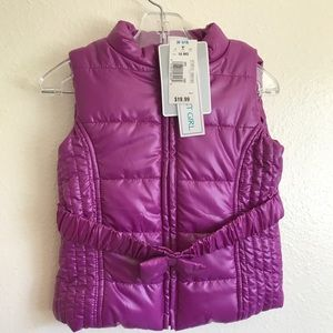 Adorable Puffy vest for baby girl ❄️💜